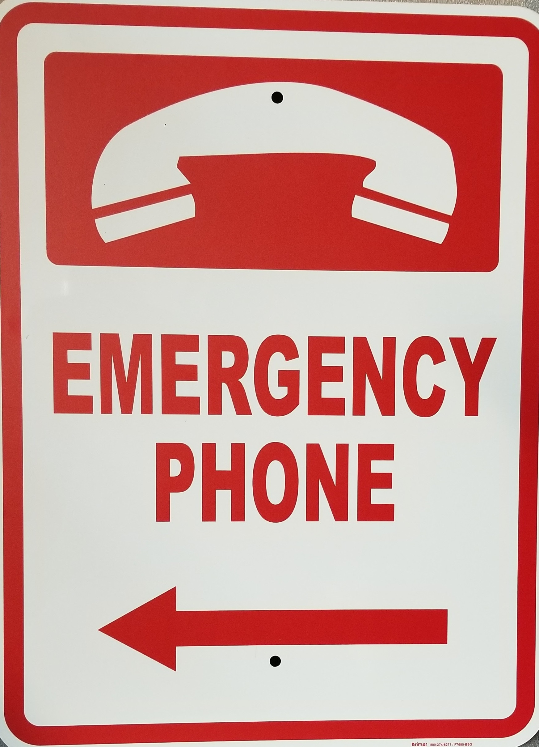 Emergency Phone Sign Pool Operation Management
