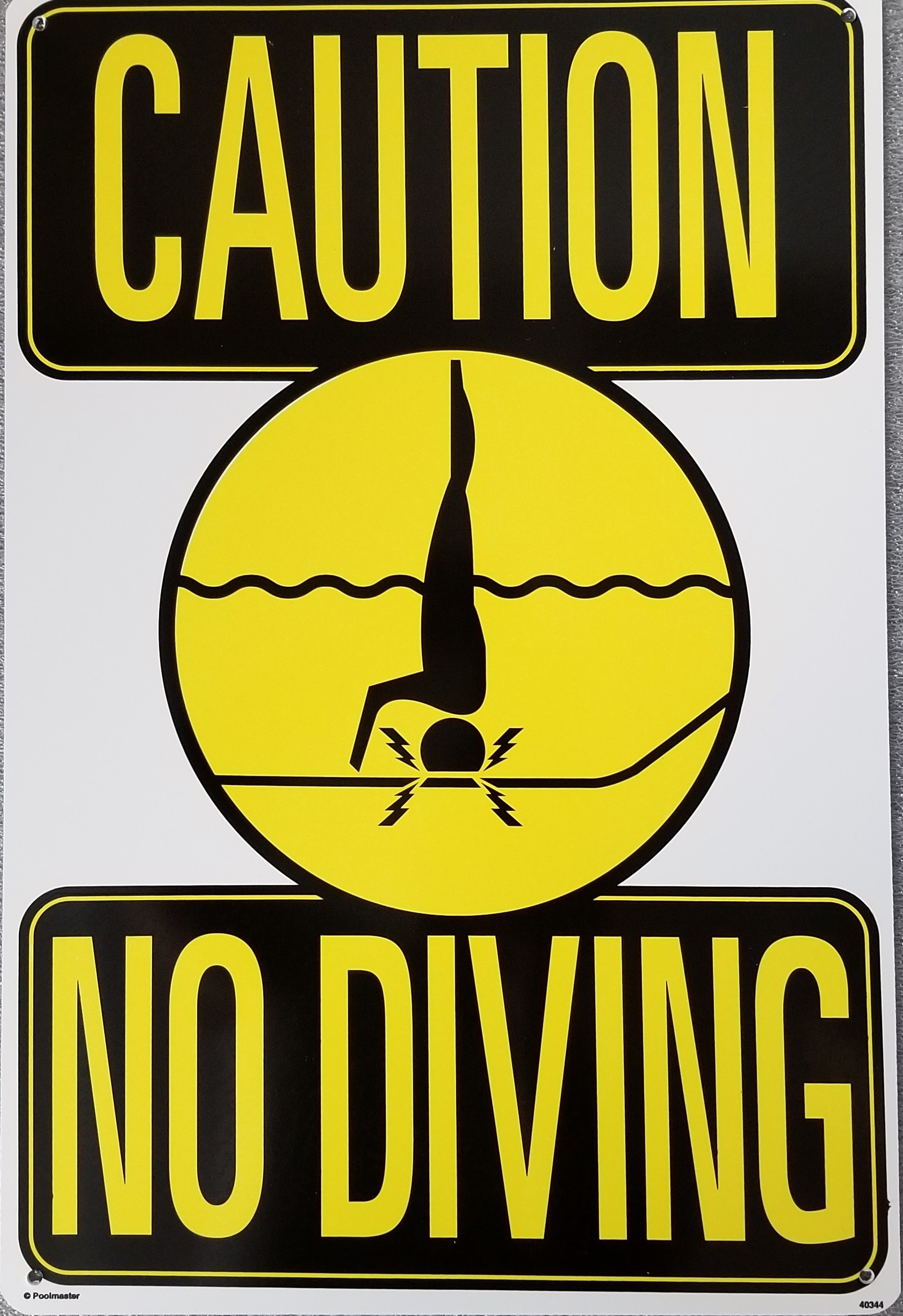 No Dive Sign With Symbol Pool Operation Management