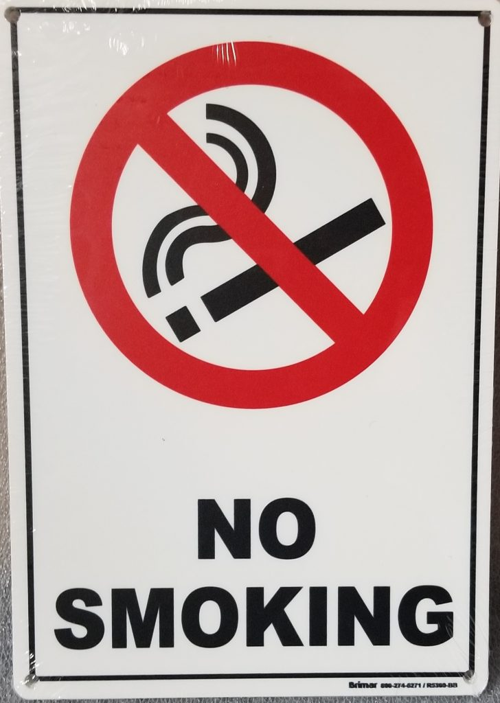 No Smoking Sign With Symbol Pool Operation Management